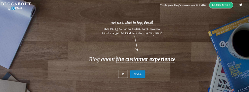 Free online copywriting tool BlogAbout