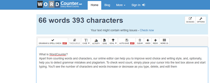 WordCounter free word counting software