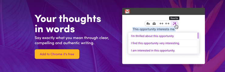 Wordtune free copywriting tool